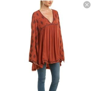 Free People Diamond Embroidered Top